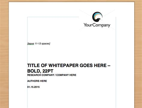 simple whitepaper template