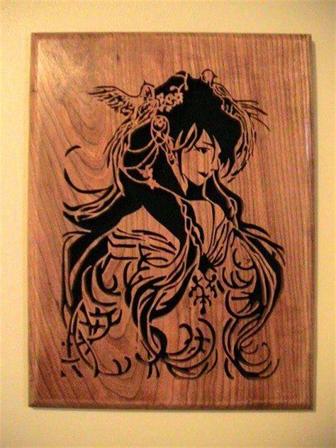 geisha scrollsaw cutting scroll  art