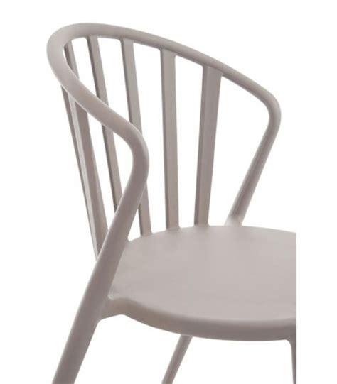 chaise de jardin design en polypropylène greige wadiga com