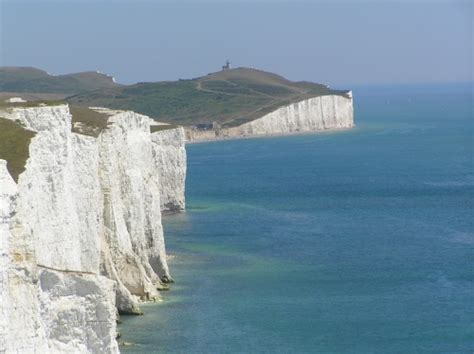 sisters chalk cliffs  east sussex