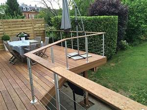 terrasse suspendue en bois ides maison pinterest terrasse With realiser une terrasse sur pilotis