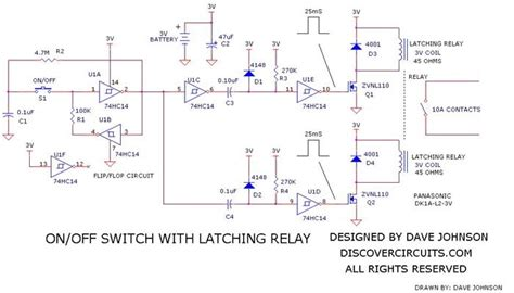 Latching Relay Off Switch Circuit