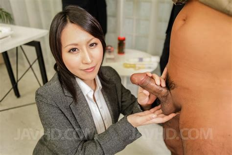 Watch Porn Pictures From Video Yuuna Hoshisaki In Office Suit Gets Cum In Palms After Handjob