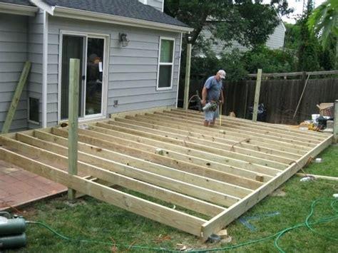 Deck Plans Deck Building Ground Level Patio Deck