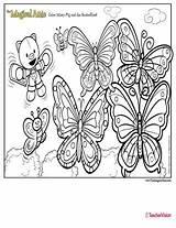 Coloring Butterflies Attic Magical Misty Pig Teachervision sketch template