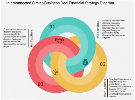 interconnected circles business deal financial strategy