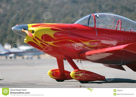 small red airplane stock image image