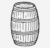 Barrel Drawing Coloring Keg Wine Clipart Computer Icons Clip Sketch Wooden Transparent Template Pages sketch template