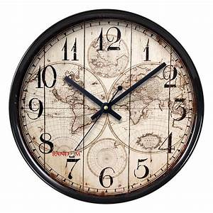 Random home decor brown wall hanging clock large indoor for Fancy wall clock online