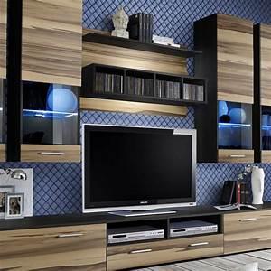 Meuble Design Tv Mural : meuble tv mural design dorade 300cm noyer weng ~ Teatrodelosmanantiales.com Idées de Décoration