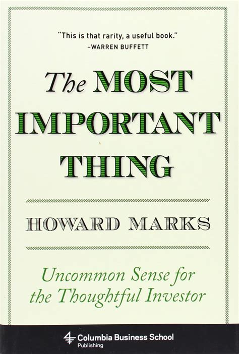 92 Quotes From The Most Important Thing By Howard Marks