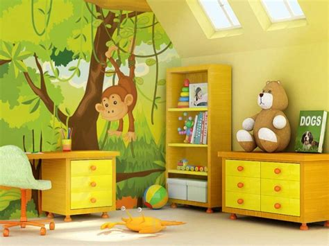 Animal Wallpaper For Children S Bedroom - animal themed children s bedrooms jungle and design