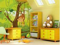 interesting kidsroom wall mural Animal Themed Children's Bedrooms Jungle And Wild Design ...