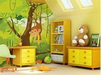 interesting kidsroom wall mural Animal Themed Children's Bedrooms Jungle And Wild Design - HomesCorner.Com