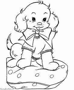 A Puppy for Christmas coloring pages