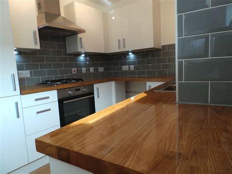 wickes kitchen island prime solid oak worktop 40mm staves solid prime grade