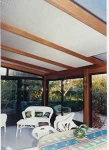 Store De Veranda Interieur : store pliss en sous toiture de v randa mais aussi pour les fen tres verticales ~ Voncanada.com Idées de Décoration
