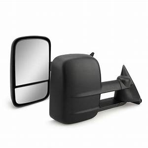 Pair Manual Towing Mirrors Glass Trailer For Chevy Gmc C  K