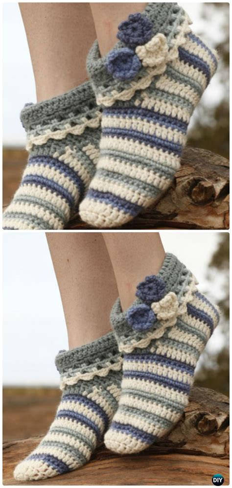 crochet women slippers  patterns diy instructions