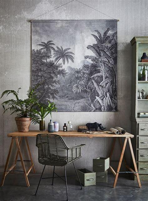 pflanzen für drinnen wandkarte dschungel hk living living dekor