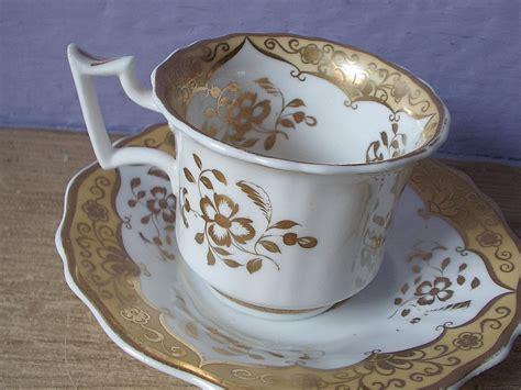 Antique Victorian Tea Cup Set Vintage 1800's By Shoponsherman