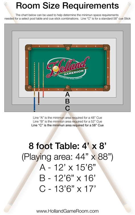 8 pool table dimensions room dimensions for a pool table holland game room
