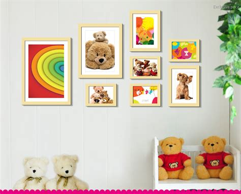 Teddy Bear Wooden Wall Frames For Kids Room Wd