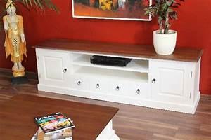 Tv Schrank Landhausstil : sideboard tv hifi schrank holz massiv wei braun landhausstil ~ Indierocktalk.com Haus und Dekorationen