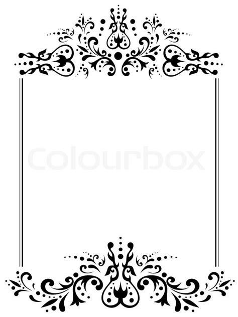 vorlagen schwarz weiß illustration vintage rahmen mit vektorgrafik colourbox