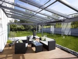 faites un toit en verre pour votre terrasse moderne With toit en verre maison 4 veranda toit terrasse ma veranda