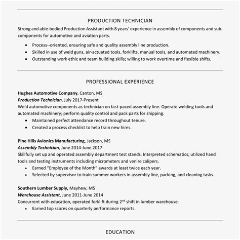 How To Build A Resume With Work Experience by How To Create A Professional Resume