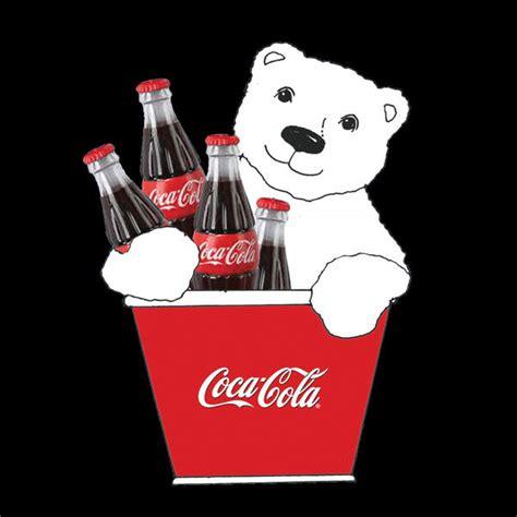 coca cola polar bear  bottles  bucket ornament