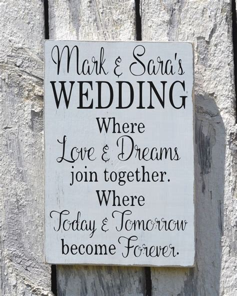 rustic wedding sign  personalized signs