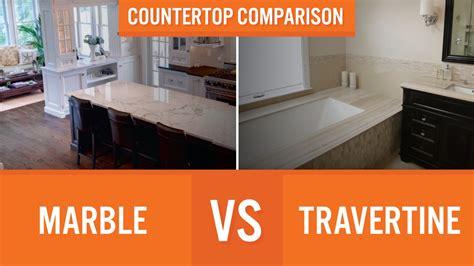 marble  travertine countertop comparison youtube