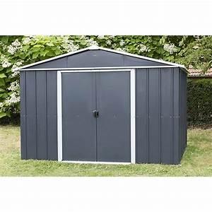 Abri De Jardin En Kit : abri de jardin m tal yardmaster 8 12 m couleur gris ~ Dailycaller-alerts.com Idées de Décoration