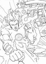 Colorir Quarteto Fantastico Colorare Fantastiques Torcia Fantastici Johnny Umana Tocha Flambe Fogo Fantasticos Hellokids Llamas Antorcha Cartoni sketch template