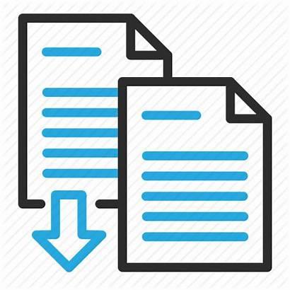 Merge Documents Icon Export Combine Data 512px