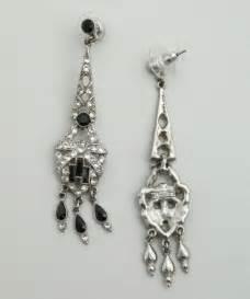 ben amun black and silver chandelier earrings in