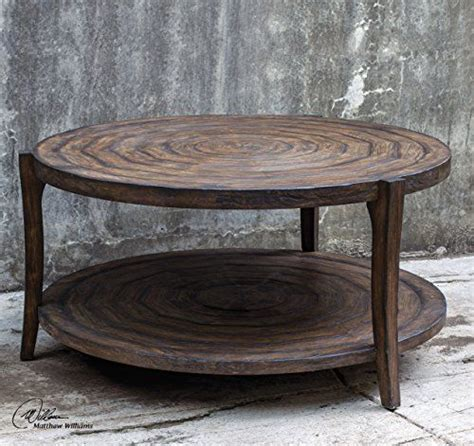 round distressed wood coffee table distressed cottage round circles coffee table wood loft
