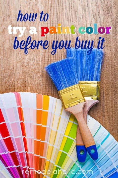 remodelaholic how to test a paint color before you buy it