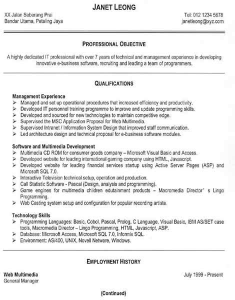 Free Resumes Builder by Resume In Chronological Format Sle Antitesisadalah X