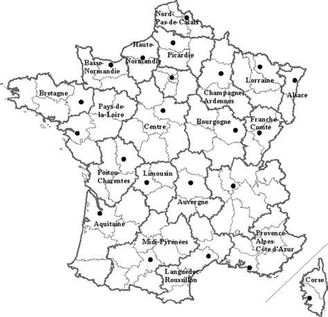 Carte Région Administrative Vierge by Carte De La En Noir Et Blanc My