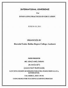 Seminar paper in lucknow international