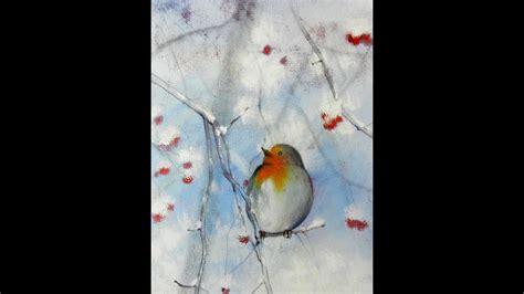 tutorial inverno   realizzare  dipinto  le
