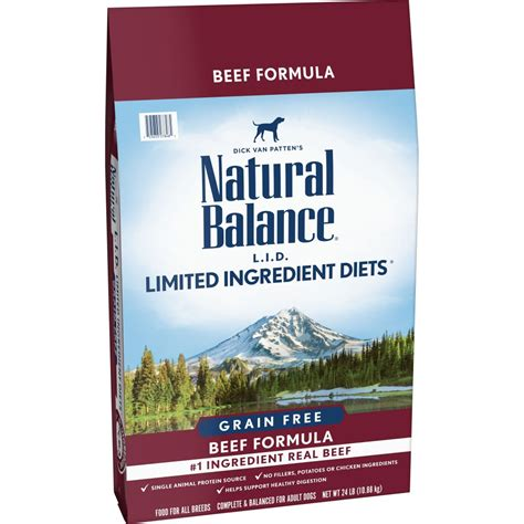 natural balance grain  limited ingredient diets beef