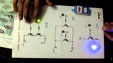 logic gate project  transistors youtube