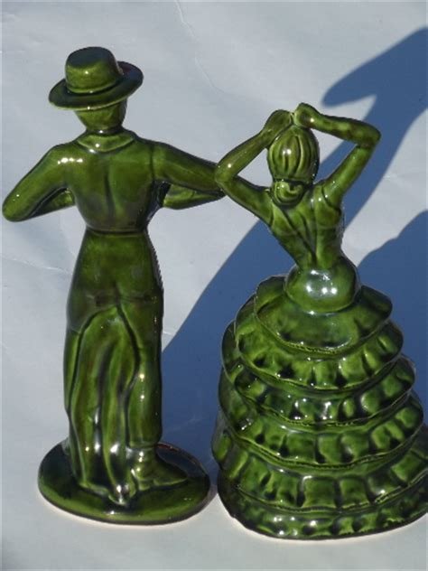 vintage ceramic art spanish flamenco dancers