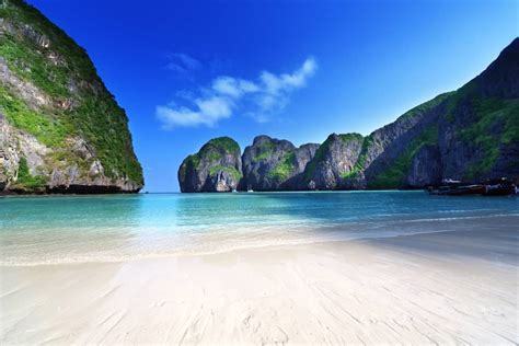phi thailand beach maya bay leh island krabi asia weather
