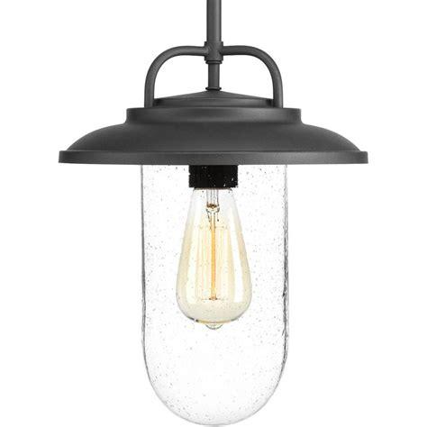 home depot hanging ls progress lighting beaufort collection black 1 light