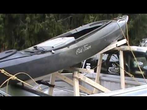 diy kayak rackpickup truck youtube